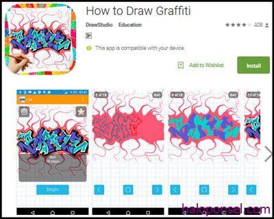 Aplikasi Pembuat Graffiti Terbaik - How To Draw Graffiti