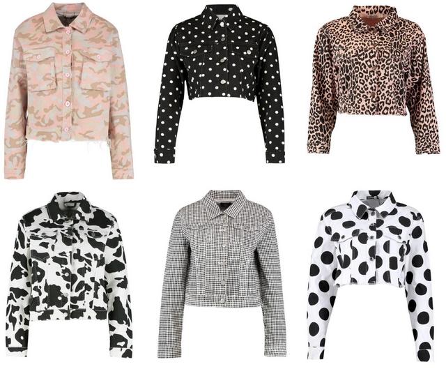 spijkerjas met koeien print denim jack met stippen ruiten gingham camouflage panterprint mode blog inspiratie