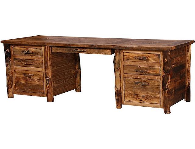 best buy wood rustic looking office desk for sale
