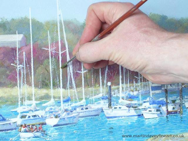 Artist M P Davey WIP hampshire acylic WIP