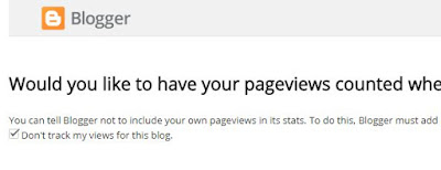 Manage tracking your own pageviews