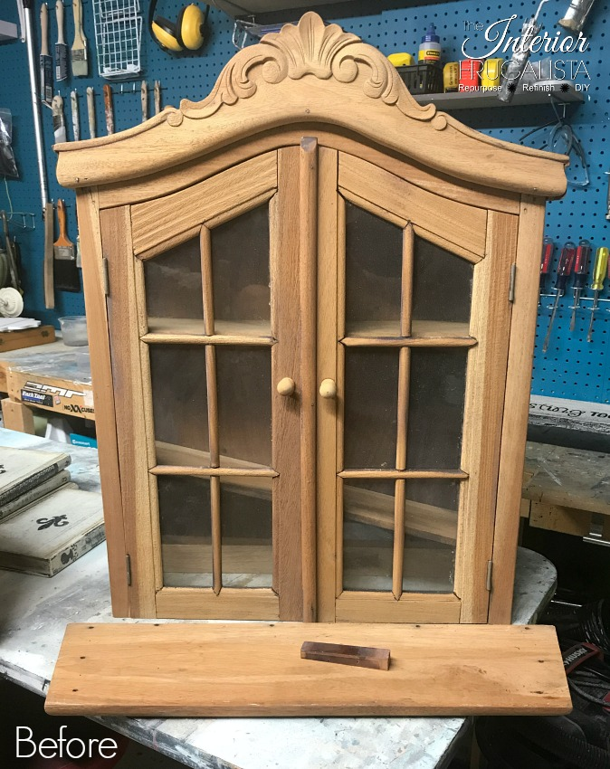 Vintage Wall Curio Cabinet Closed Before