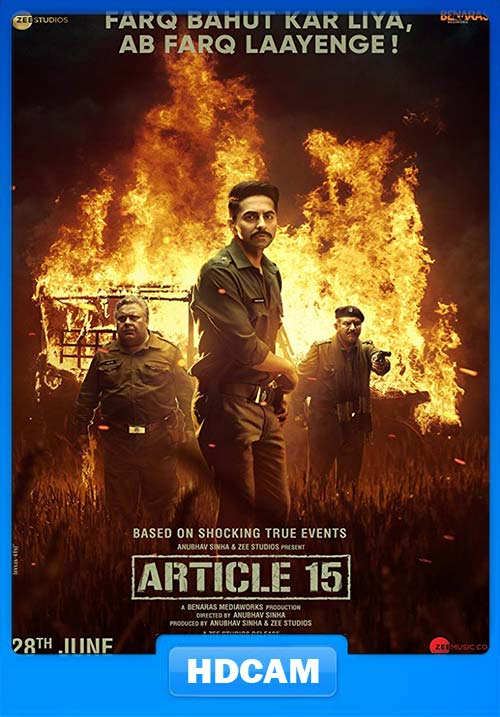 Article 15 2019 Hindi 720p PreDVDRip x264 | 480p 300MB | 100MB HEVC Poster