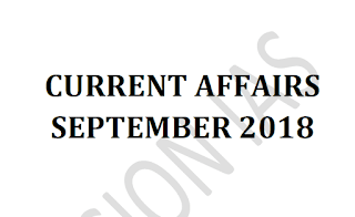 Vision IAS Current Affairs September 2018 - Download PDF