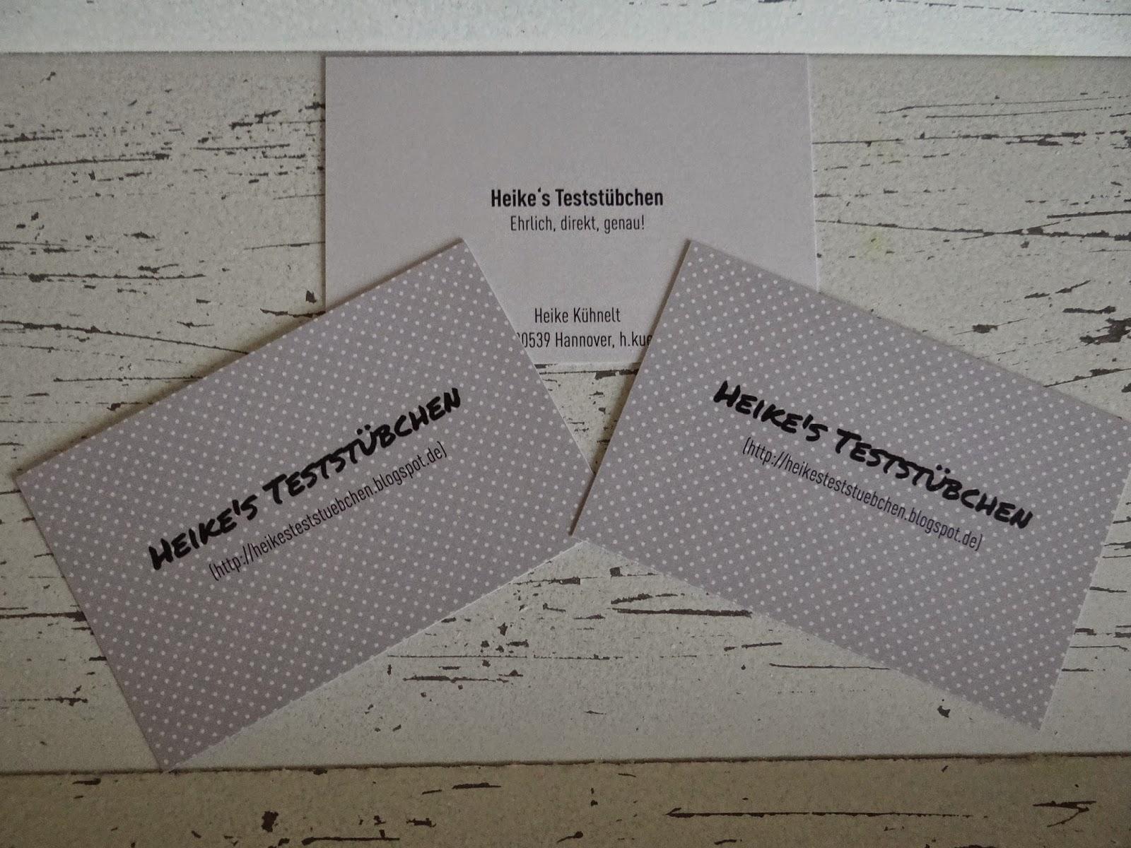 Heike S Teststübchen Dezent Und Mein Visitenkarten Von Der
