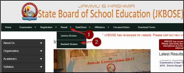 JKBOSE Class 10th Results 2019