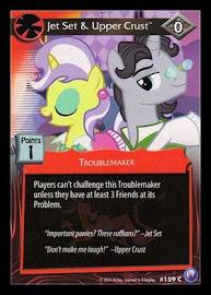 My Little Pony Jet Set & Upper Crust Canterlot Nights CCG Card