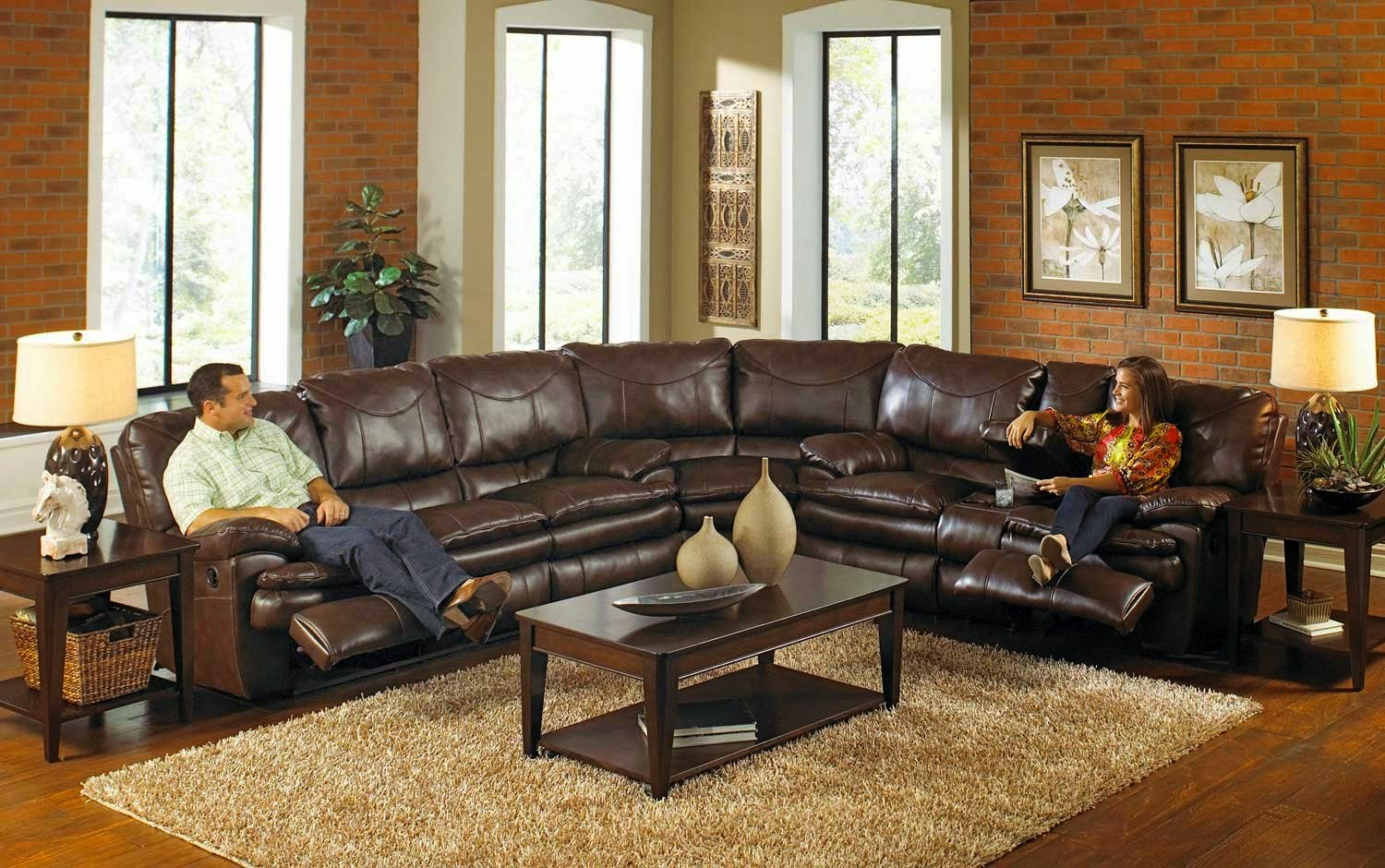 CatNapper Perez Power Leather Power Reclining Sofa Set