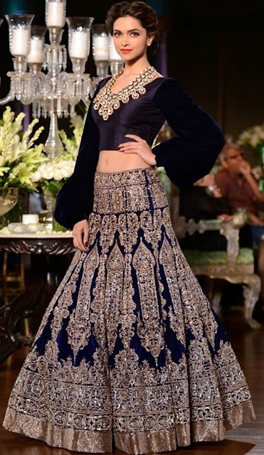 Voguish Blue Color Heavy Embroidery Lehenga