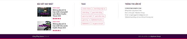 congdonggamer.com một sản phẩm của mystown group