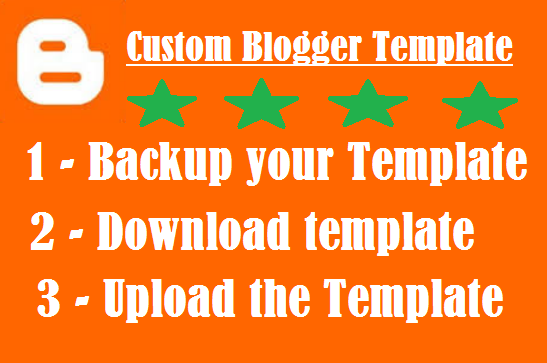 How to install or upload a custom template on your blog