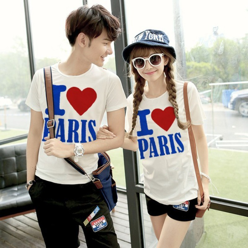 Jual Baju Couple CP I Love Paris - 23625