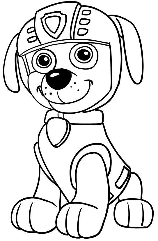 Tranh tô màu những chú chó cứu hộ 9