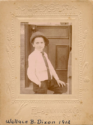 Wallace B. Dixon in 1912, at the age of 7. Photo by E.L. Jenkins & Co., 122 Front St., NY. Held by E. Ackermann, 2017.