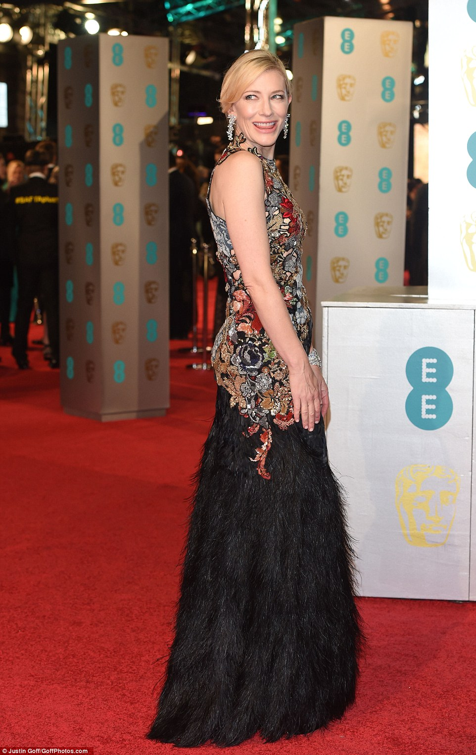 Cate Blanchett dazzles in Alexander McQueen at the BAFTAs 2016