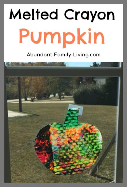 Melted Crayon Pumpkin Activity for Kids