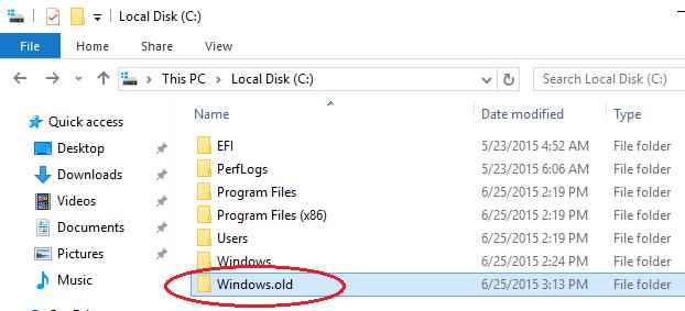 كيفية إزالة مجلد Windows.OLD وربح المزيد من المساحة في القرص الصلب