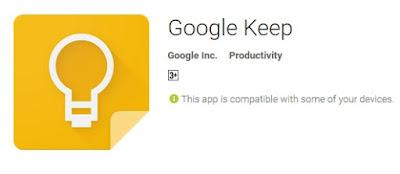 Aplikasi catatan dari google yang keren dan bagus