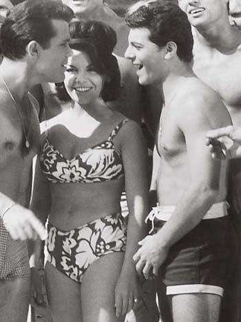annette funicello beach movies - At one time, Frankie almost quit the movies and joined a high-wire act in  the Circus. But he realized he never could work with out Annette. (Groan).