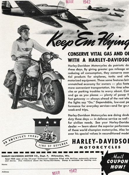 Harley Davidson Advertising: Harley-Davidson Advertising 1940's