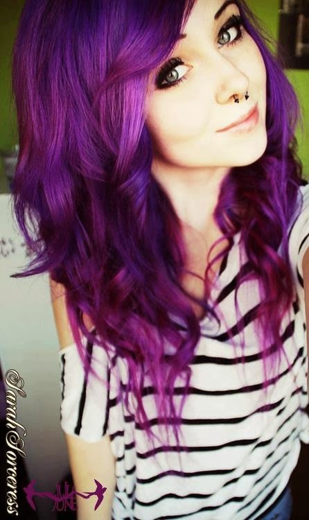 I love purple also! I'm debating rich deep red or purple to dye my hair!