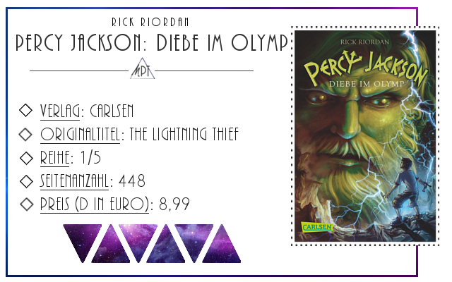[Rezension] Percy Jackson: Diebe im Olymp - Rick Riordan