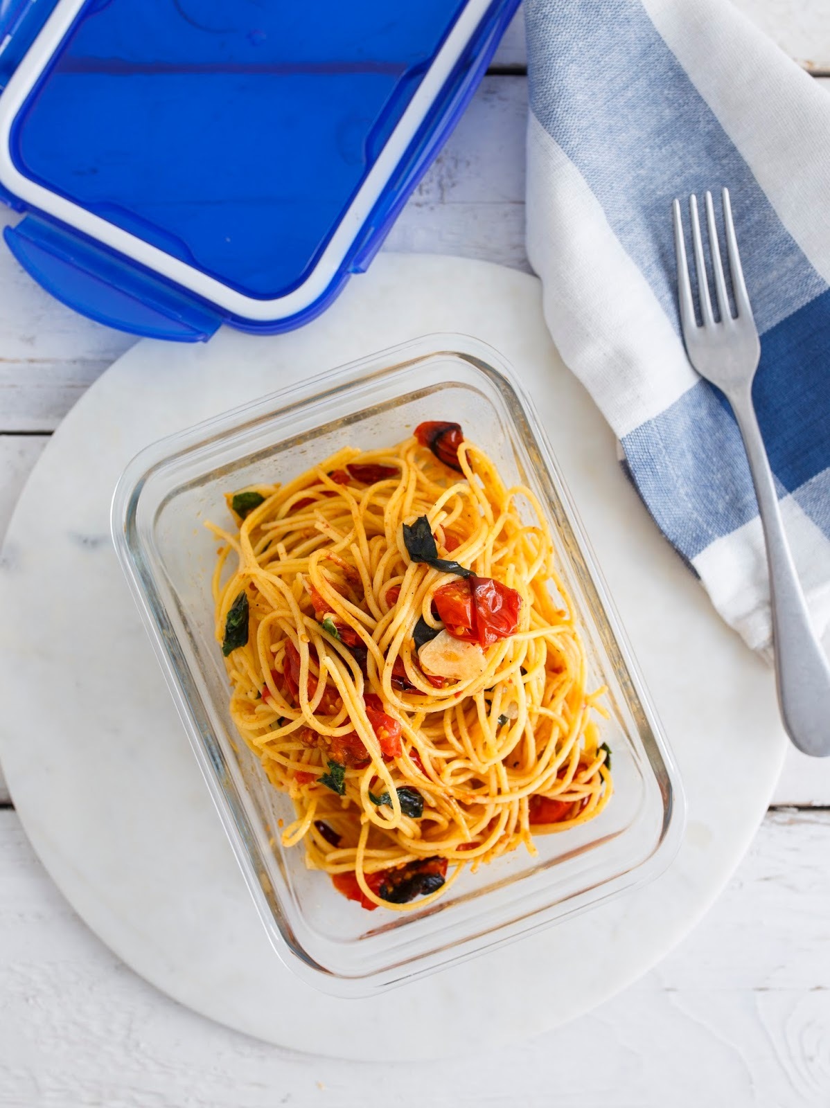 Roasted Cherry Tomato Spaghetti Recipe.