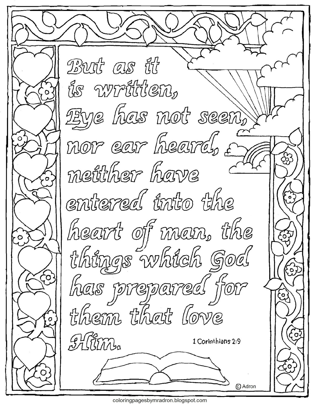 Coloring Pages for Kids by Mr. Adron: 1 Corinthians 2:9