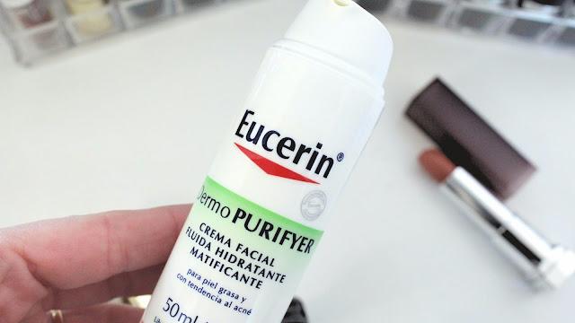 Fluido facial matificante Eucerin DermoPURIFYER, un aliado para la piel grasa