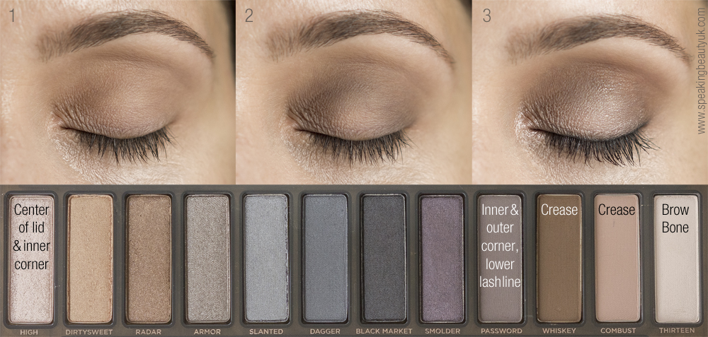 Naked Smoky eyeshadow palette step by step guide