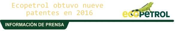 Ecopetrol continúa incrementando su portafolio con 78 desarrollos tecnológicos para mejorar su competitividad #RSY #OngCF