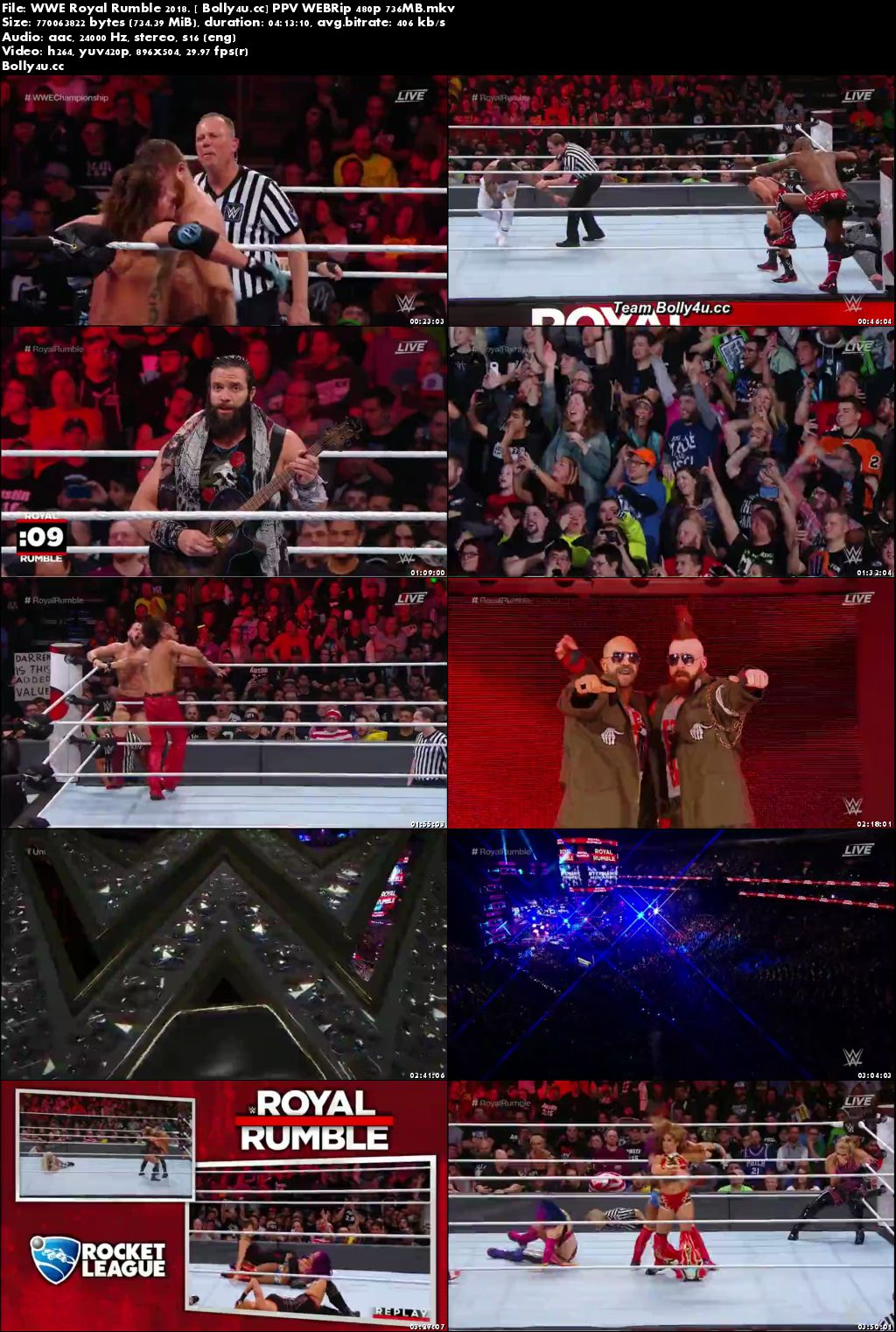 WWE Royal Rumble 2018 PPV WEBRip 700MB 480p x264 Download