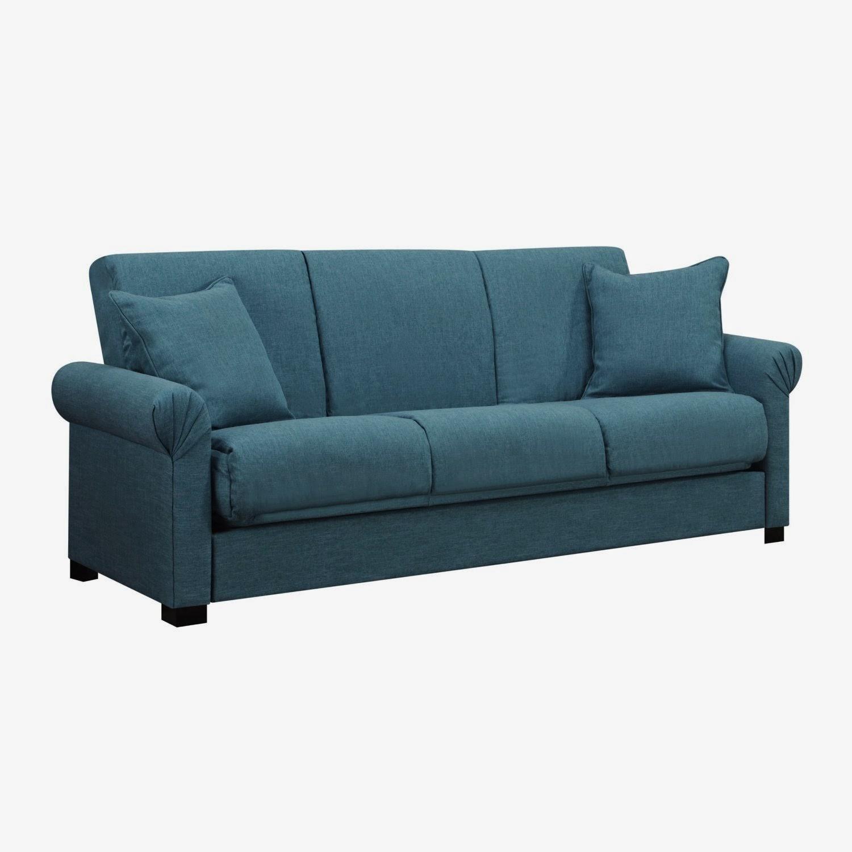 Blue Sofa Blue Microfiber Sofa - Cuisinebois