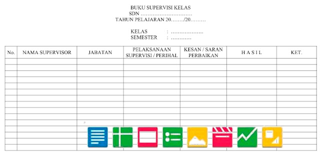 Download Format Buku Supervisi Kelas Format Doc