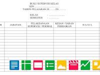 Download Format Buku Supervisi Kelas   Berkas Sekolah