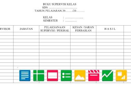 Download Format Buku Supervisi Kelas | Berkas Sekolah