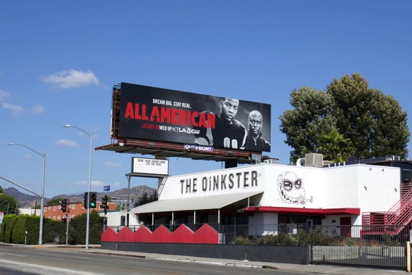 All American red billboard