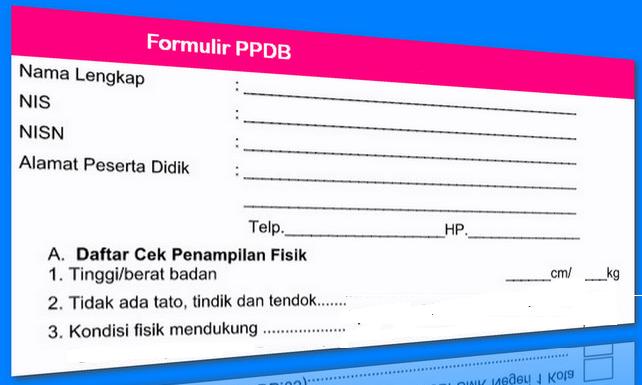 Formulir PPDB SD SMP SMA SMK 2018 2019