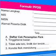 Contoh Formulir PPDB SD SMP SMA SMK 2018/2019