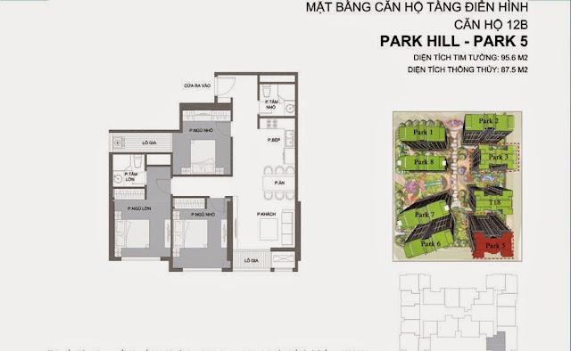 Căn hộ số 12B Times City Park Hill 5