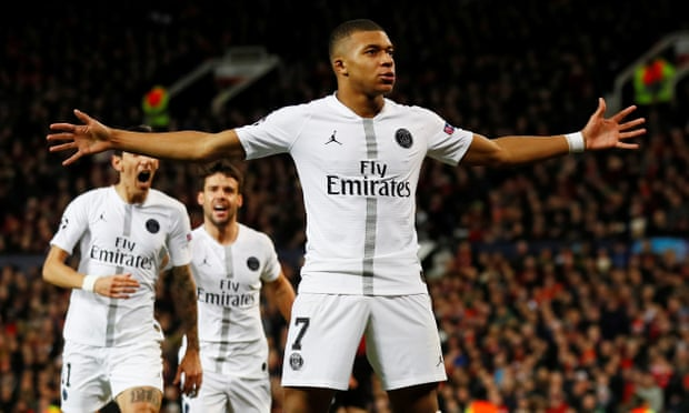 f3de245ba Manchester United 0-2 Paris St-Germain  Ole Gunnar Solskjær s side beaten  by the French champions in round of 16 first leg