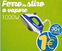 Logo Eurospin ti regala il ferro da stiro Ideal Temp 1000W