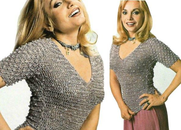 Tejer Pull-jersey tejido con perlitas para fiestas