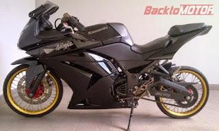 Modifikasi Motor Kawasaki Ninja 250R Ninja 4tak Velg Jari Jari Ring 17