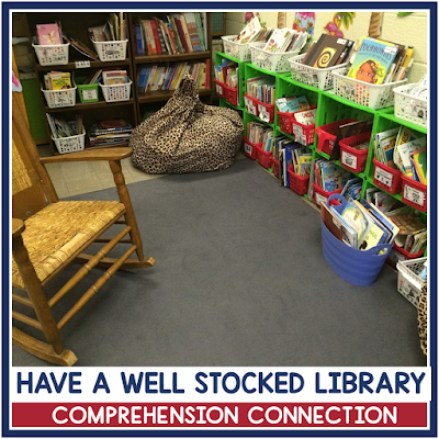 Keeping a well stocked classroom library sends a message that reading is important. Independent reading is an important component of the guided reading block. Check out this post for tips on organizing your guided reading block.
