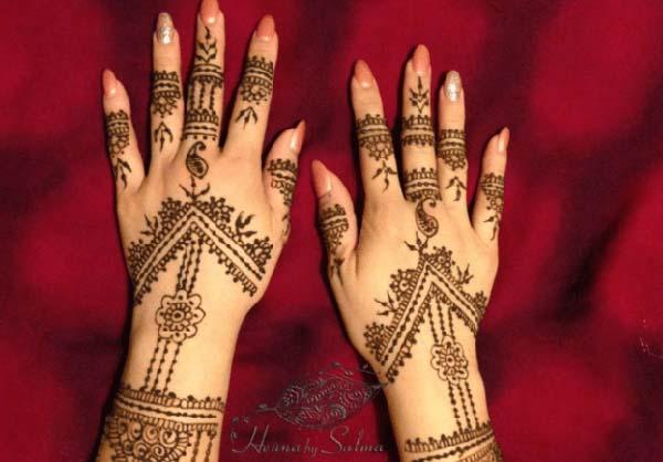 gambar motif henna pengantin terbaru