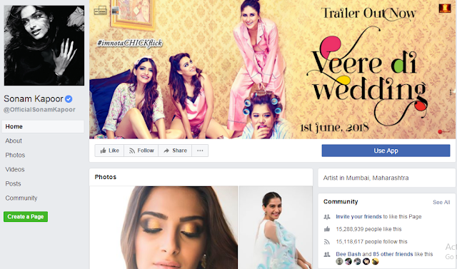 Sonam Kapoor Does not Chang her Facebook Name