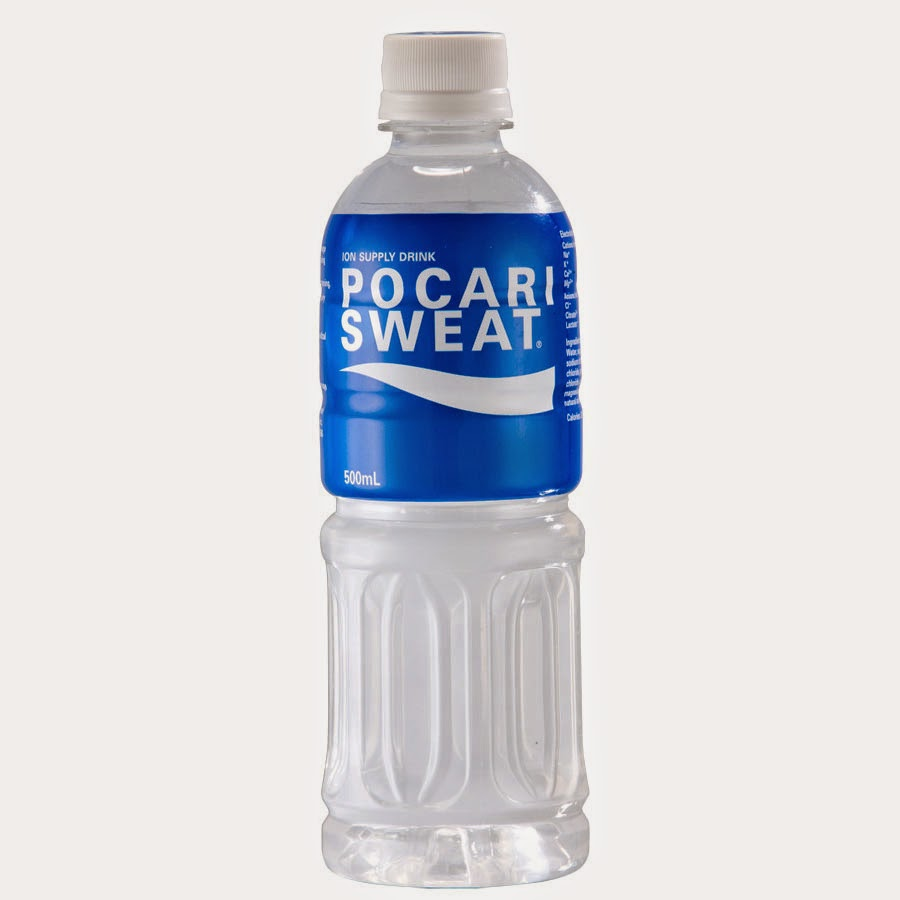 Snacking in Japan pocari sweat