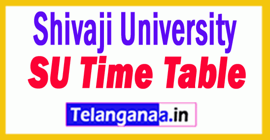 Shivaji University SU Time Table