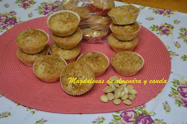 MAGDALENAS DE ALMENDRA Y CANELA